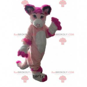 Husky mascot, pink fox, pink dog costume - Redbrokoly.com