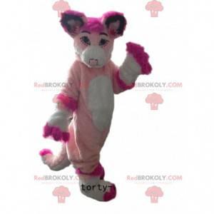 Maskot Husky, růžová liška, kostým růžového psa - Redbrokoly.com