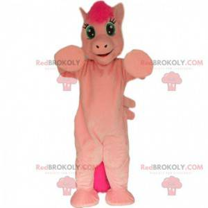 Rosa Pony-Maskottchen, rosa Pferdekostüm - Redbrokoly.com