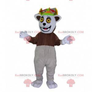 Mascote Rei Julian, famoso lêmure do filme Madagascar -