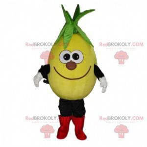 Maskot žluté ovoce, usměvavý maskot citron - Redbrokoly.com