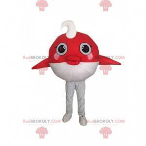 Mascot red and white fish, sea costume - Redbrokoly.com