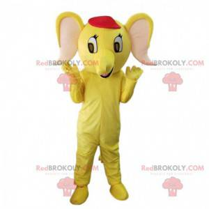 Yellow elephant mascot, yellow elephant costume - Redbrokoly.com
