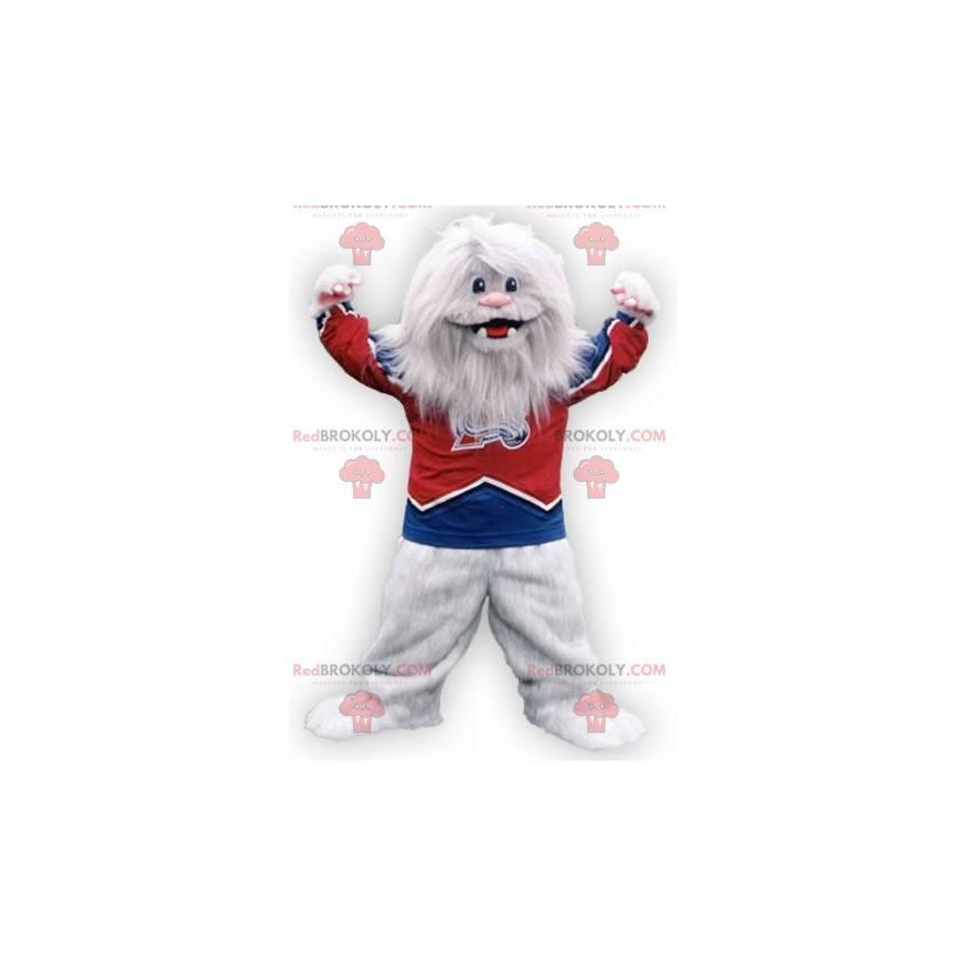 Chlupatý bílý netvor bílý maskot yeti - Redbrokoly.com