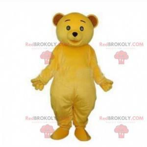 Gelbes Teddybär-Maskottchen, Plüsch-gelbes Teddybär-Kostüm -