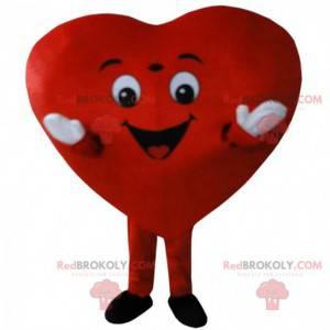 Großes rotes Herz Maskottchen, romantisches Kostüm -