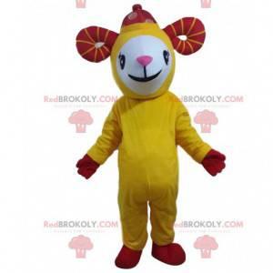 Gelbes Ziegenmaskottchen, riesiges Schafskostüm - Redbrokoly.com