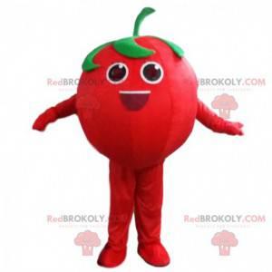 Gigantyczny czerwony pomidor maskotka, kostium owoców i warzyw