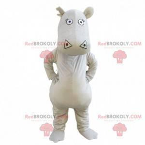 Szary hipopotam maskotka, gigant i zabawny kostium hipopotama -