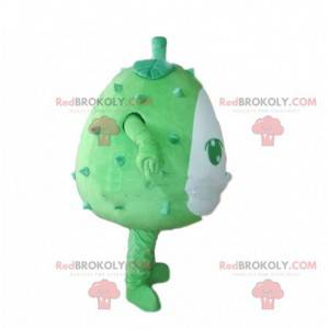 Maskot rohatý meloun, zelený a kořeněný durian, obří -