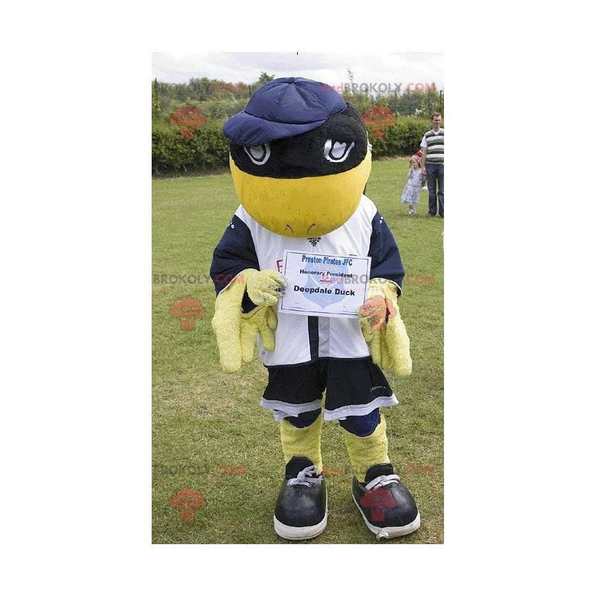 Deepdale Duck yellow and black bird mascot - Redbrokoly.com