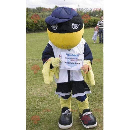 Deepdale Duck gelbes und schwarzes Vogelmaskottchen -