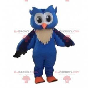 Maskot modrá sova, velký noční pták kostým - Redbrokoly.com