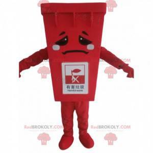 Rotes Müllcontainer-Maskottchen, riesiges Müllkostüm -