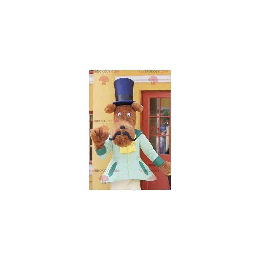 Maskot knírem s cylindrem - Redbrokoly.com