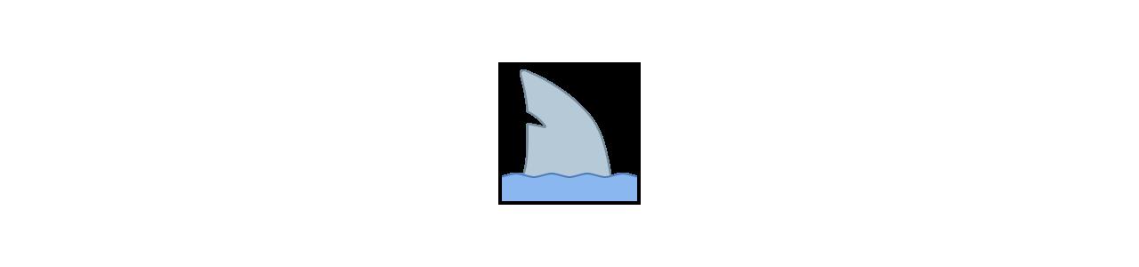 Mascotes de tubarão - Fantasias de mascote em Redbrokoly.com