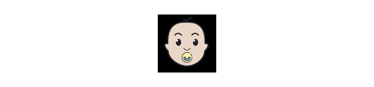 Mascotes do bebê - Fantasias de mascote em Redbrokoly.com