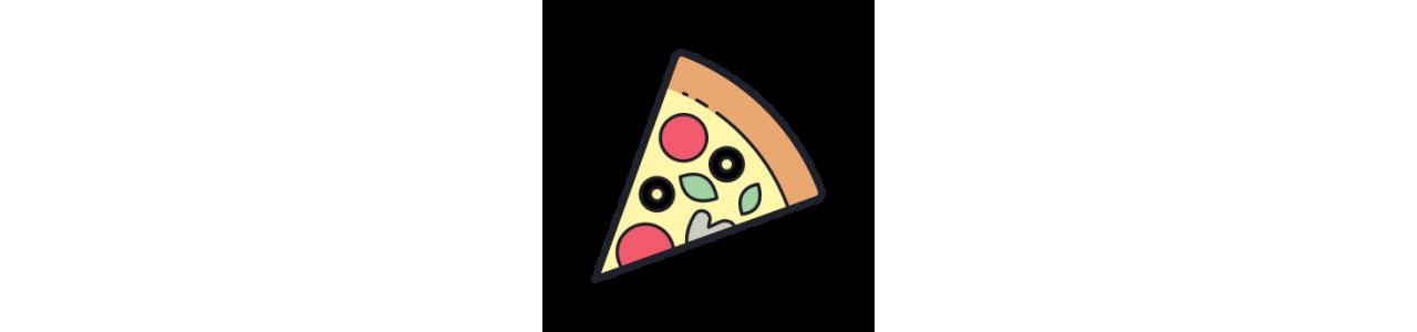 Mascotes de pizza - Fantasias de mascote em Redbrokoly.com