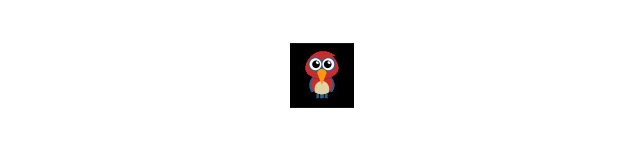 Mascotes de animais - Fantasias de mascote em Redbrokoly.com