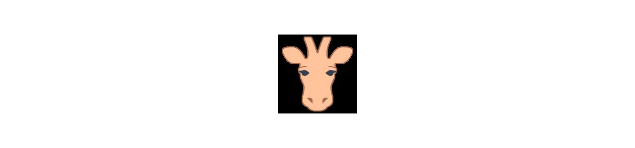 Mascottes van giraffen - Mascottekostuums Redbrokoly.com