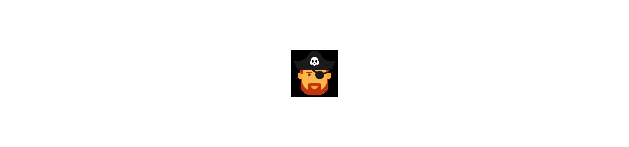 Piratmasker - Maskot kostumer Redbrokoly.com