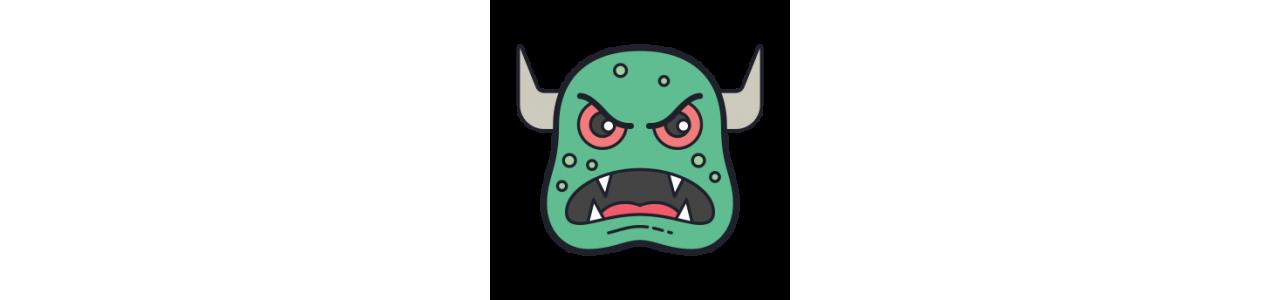 Mascotes de monstros - Fantasias de mascote em Redbrokoly.com