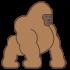 Mascotte Gorilla