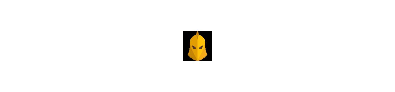 Riddermasker - Maskot kostumer Redbrokoly.com