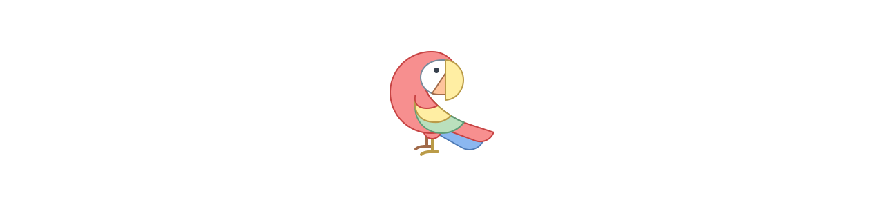 Papoušek papoušek - maskotové kostýmy Redbrokoly.com