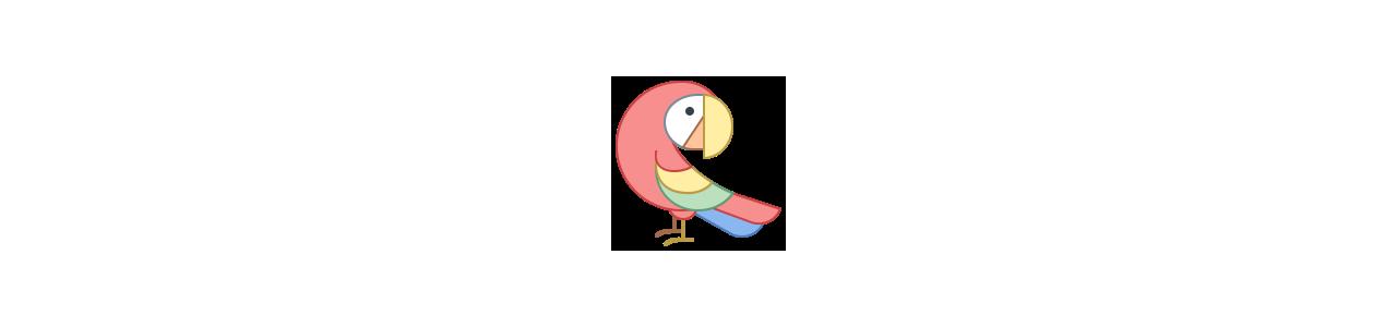 Parrot mascottes - Mascottekostuums Redbrokoly.com
