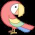 Papageienmaskottchen
