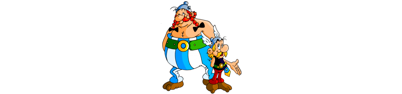 Mascotte Asterix e Obelix - Costumi mascotte Redbrokoly.com-null