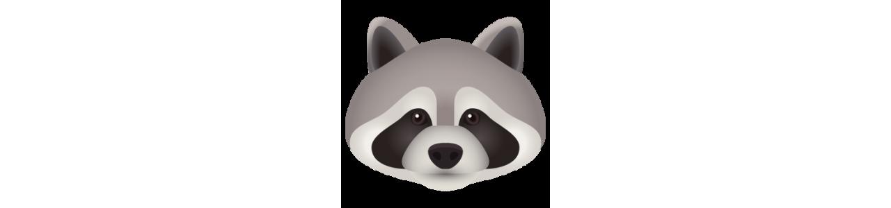 Vaskebjørnmasker - Maskot kostumer Redbrokoly.com