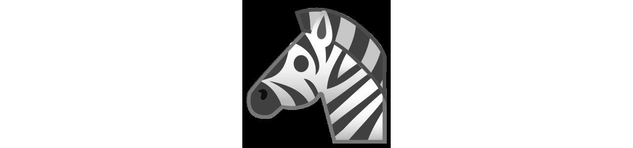 Mascotes zebra - fantasias de mascote Redbrokoly.com