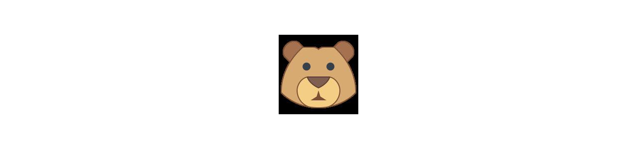 Mascote urso - Fantasias de mascote em Redbrokoly.com
