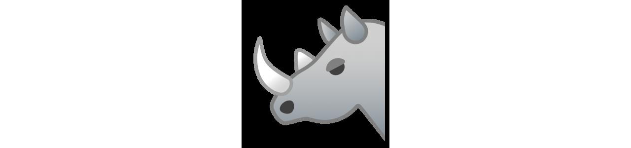 Mascote rinoceronte - fantasias de mascote Redbrokoly.com