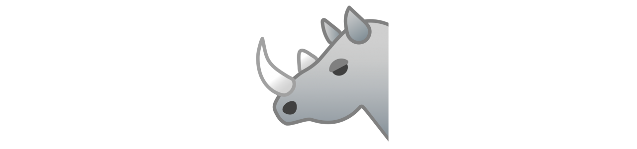 Næsehorn maskot - maskot kostumer Redbrokoly.com