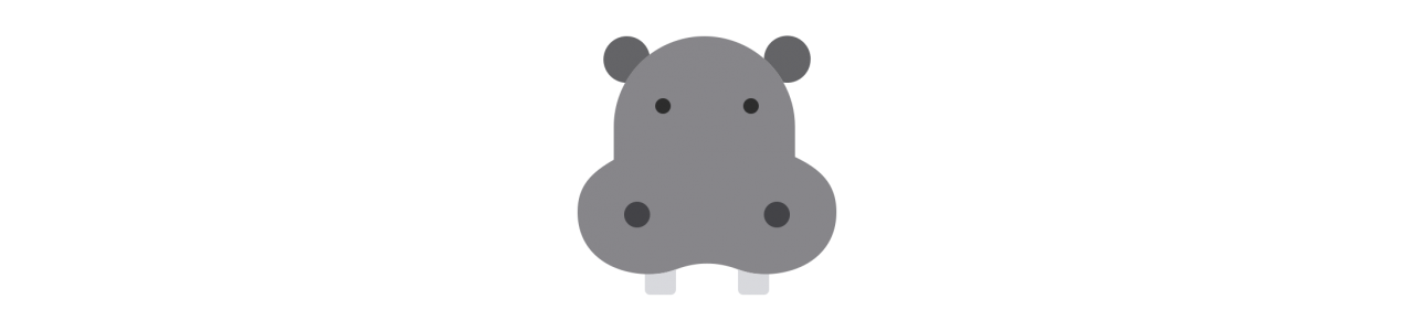 Mascota hipopótamo - disfraces mascota Redbrokoly.com