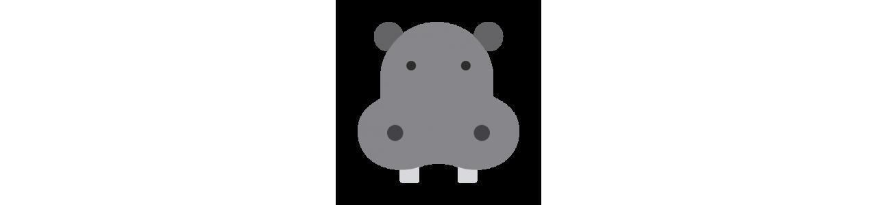 Mascote hipopótamo - fantasias de mascote Redbrokoly.com