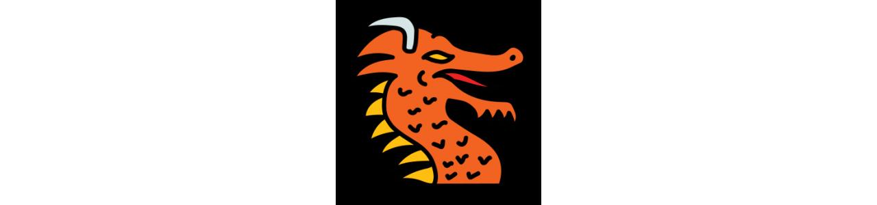 Mascote do dragão - Fantasias de mascote em Redbrokoly.com