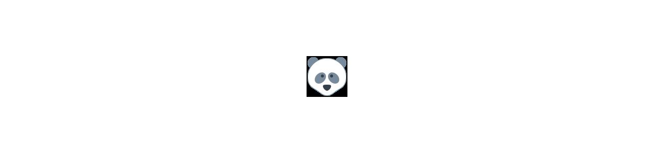 Mascote pandas - Fantasias de mascote em Redbrokoly.com