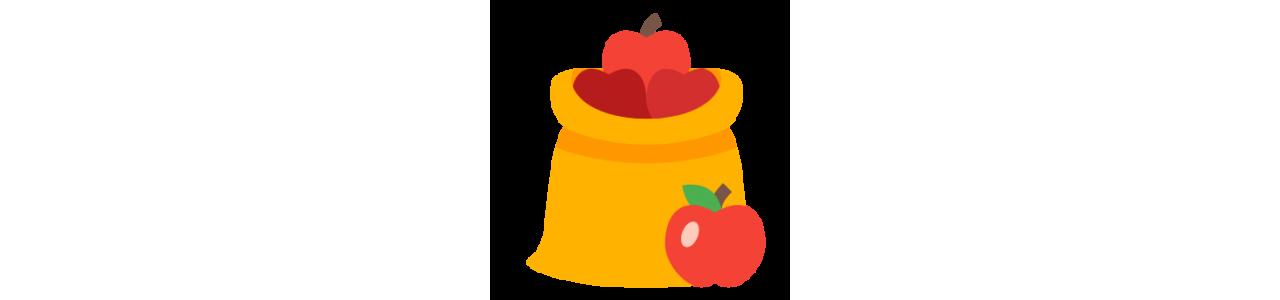 Mascote de frutas - Fantasias de mascote em Redbrokoly.com