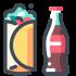 Mascotte van voedsel