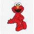 Mascotte 1 rue sesame Elmo