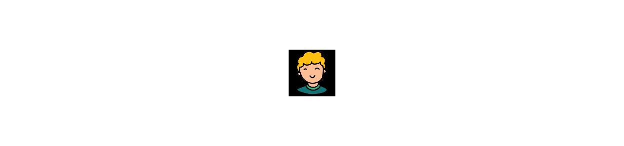 Mascotes de meninos e meninas - Fantasias de mascote em Redbrokoly.com