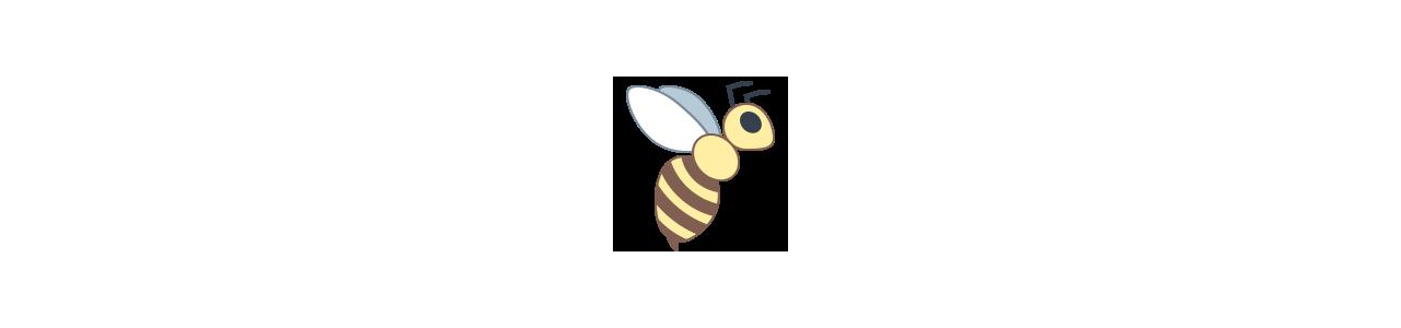 Mascotes de abelha - Fantasias de mascote em Redbrokoly.com