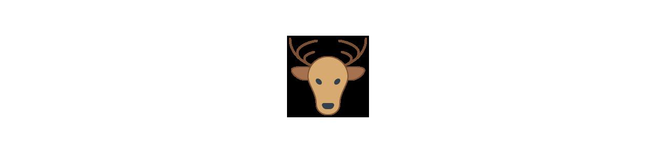Mascotes de cervos e corças - Fantasias de mascote em Redbrokoly.com