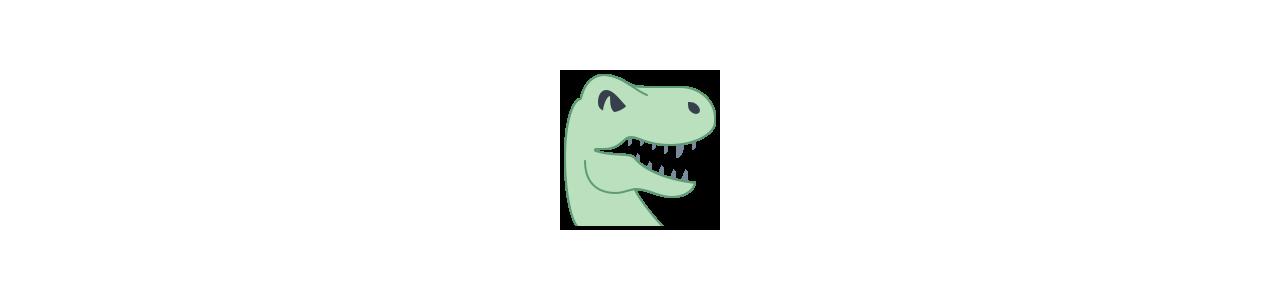 Mascotes de dinossauros - Fantasias de mascote em Redbrokoly.com