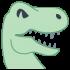 Dinosaurier-Maskottchen