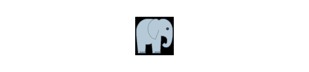 Mascotes de elefante - Fantasias de mascote em Redbrokoly.com